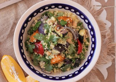 Warm Couscous Salad with Roasted Vegetables